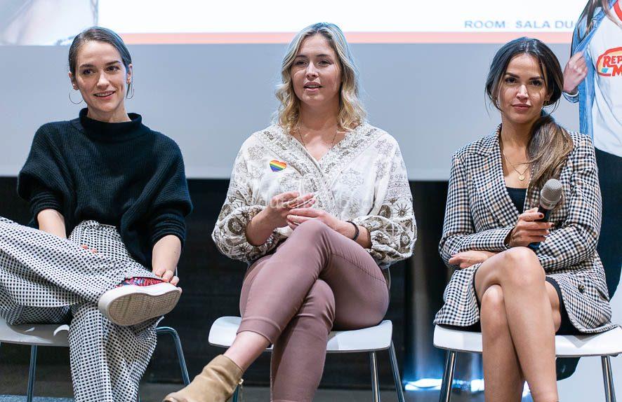 Melanie Scrofano, Tamara Duarte and Natalie Krill panel Shorty's 2019
