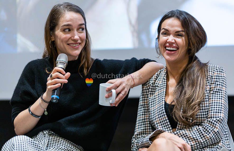Melanie Scrofano and Tamara Duarte Sunday panel Shorty's 2019
