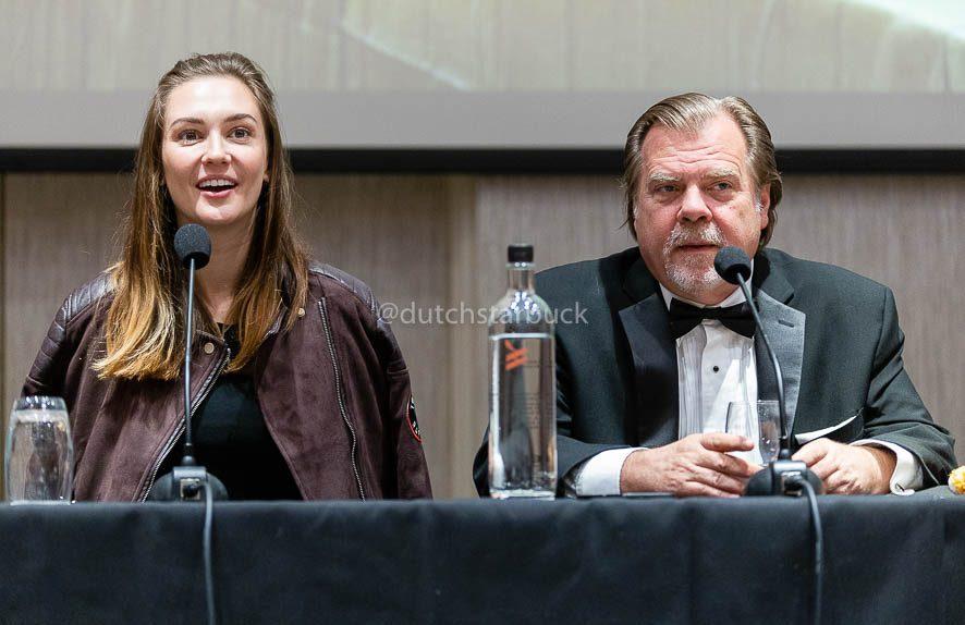 Katherine Barrell and Greg Lawson panel EarperConUK